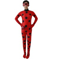 Hot Anime Lady Bug Costume Girls Marinette Cosplay Jumpsuit Halloween Party Cute Ladybug Kids Children Costume
