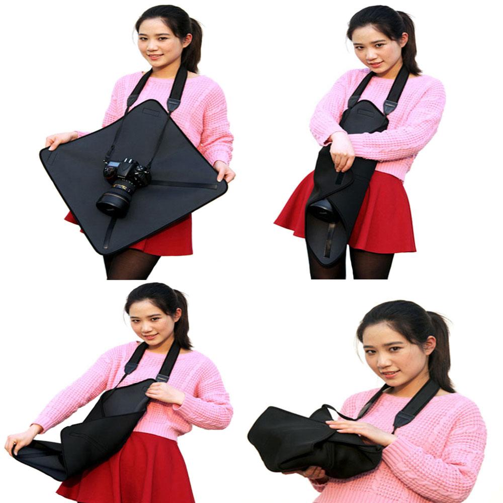 Fold Camera Bag Protective Soft Neoprene DSLR Camera Lens Pouch Protector Bag Soft Short Fluff Case Bags For Canon Nikon Sony