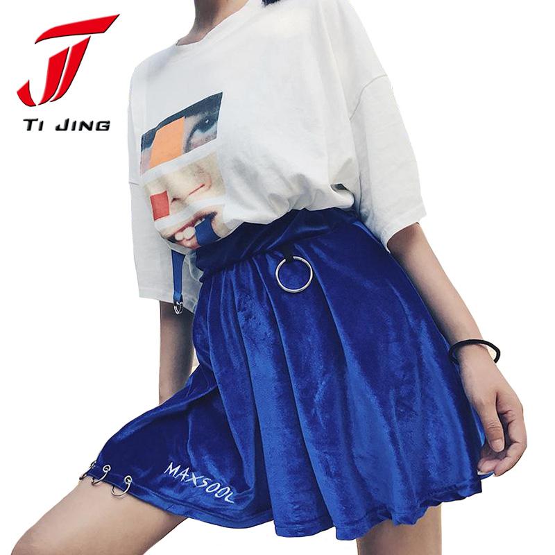 HTB18.RpSXXXXXbPXXXXq6xXFXXXv - summer high waist velvet trendy woman mini skirt PTC 187