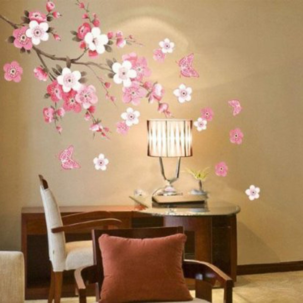 Diy Home Decoration Wall Decals : Aliexpress buy sakura flower bedroom room vinyl