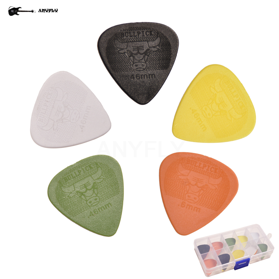 Musical Instruments Free Shipping 50pcs 0.46mm Pom Thin Thickness Bull Rock On Picks Sweeping Picks Top Quality Acoustic Electric Classic Guitar Stringed Instruments