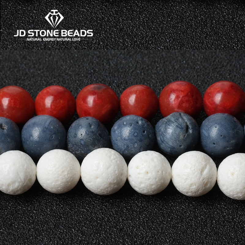 JD Stone Beads Free Shipping Natural White Coral Beads Handmade Necklace Accessory Blue Coral Beads Red Sponge Coral цена 2017