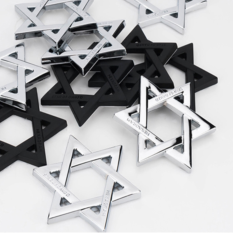Image 3 - FLYJ 3D Metal Hexagram Star of David Car Stickers Car Styling Accessories for Israel Car Sticker-in Car Stickers from Automobiles & Motorcycles