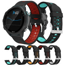 Watch strap for Garmin Forerunner 245/245M/Vivoactive 3 soft silicone Smart watches bands for Forerunner 645 Music Wristbands цена и фото