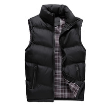 2017 New Mens Jacket Sleeveless Vest Winter Fashion Casual Coats Male Cotton-Padded Men's Vest Men Thicken Waistcoat size M-4XL