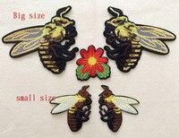 Gratis verzending Nieuwe Wesp Vintage geborduurde applique patch naaien of iron op patch DIY bee doek stof decoratie patch AC136