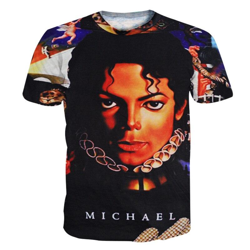 Rare MJ Michael Jackson Punk Streetwear Cotton 100% Colorful Tshirt Tees Top Royal Casual