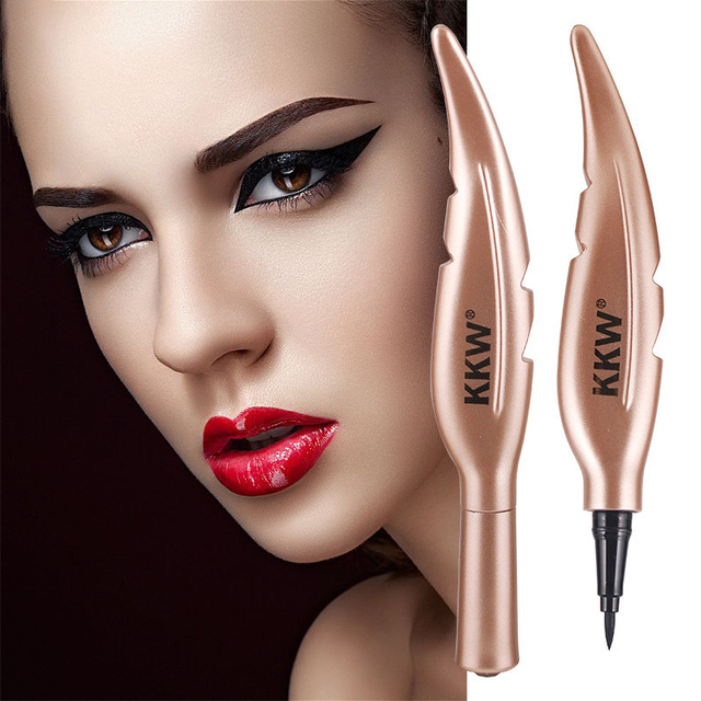 1 Pc NEW Feather Style Black Long-lasting Non-decolorization Waterproof Eyeliner