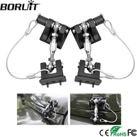 BORUiT 1Pair Car Hood Engine Cover Lock Bracket Latches Buckle Anti Theft Holder Catch Bracket Buckle For Jeep Wrangler JK 07 09