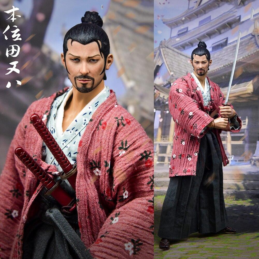 Для коллекции 1/6 весы полный набор японский самурайский положение Тянь Ба одинокий Ронин фигурка модель для веера праздничный подарок