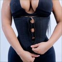 Fajas Zipper And Hooks Combo Waist Cincher Latex Waist Trainer Slim Vest Body Shaper Zip And