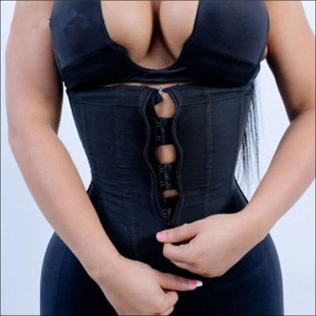 2729766f7 Miss Moly Latex Waist Trainer Body Shaper Women Corsets with Zipper Hot  Shapers Cincher Corset Top Slimming Belt Black Plus Size