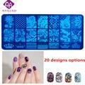 1pcs New 6X12cm OM-B series Nail Stamping Template Charm 20 Designs options  Konad Nail Art Polish Plate DIY Nail Stamp Tools