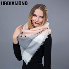 2017 New Brand Fashion Winter Scarf For Women Triangle Warm Scarf Women Plaid Cashmere Scarves Warm Brand Shawls Drop Shipping