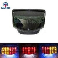 waase For Honda CBR600RR CBR 600 RR 2007 2008 2009 2010 2011 2012 Rear Tail Light Brake Turn Signals Integrated LED Light