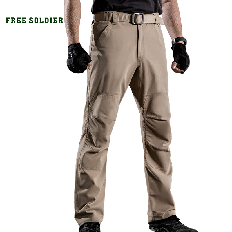 FREE SOLDIER outdoor sports camping hiking tactical men s military pants wear resistant slim trousers