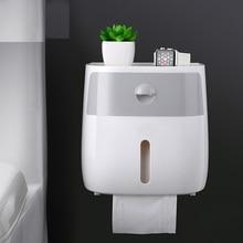 050 Fashion Wall-mounted press-open waterproof double-layer tissue box Desk Organizer bathroom double case 20.5*12.5*20cm