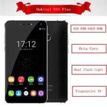 Oukitel U11 плюс 4 г смартфон Оперативная память 4 ГБ Встроенная память 64 ГБ Octa core android 7.0 отпечатков пальцев ID 13MP двойной вспышки света 3700 мАч Celular