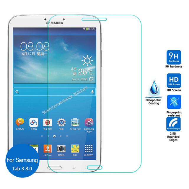 For Samsung Galaxy Tab 3 80 Tempered Glass Screen Protector 25 9h