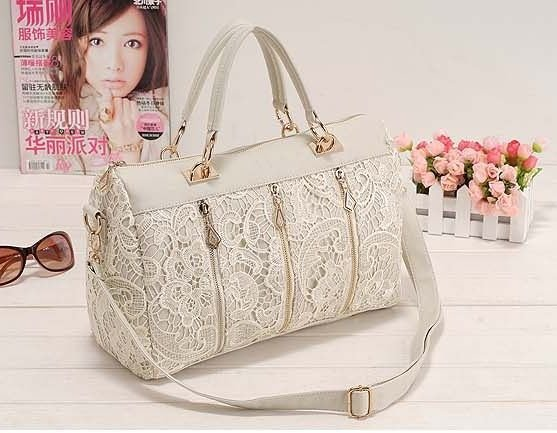46d7e6dce02 US $22.0  Women Elegant Lace Handbag Barrel Purse Shoulder Bags with Long  Belt Free Shipping Wholease cx1107-in Shoulder Bags from Luggage & Bags on  ...