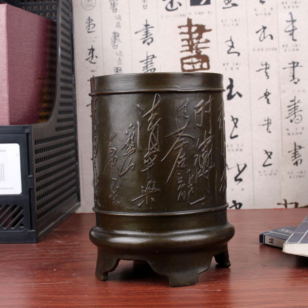 Fine copper copper ornaments pen six pen gifts office study Panshan ornaments decorationsFine copper copper ornaments pen six pen gifts office study Panshan ornaments decorations