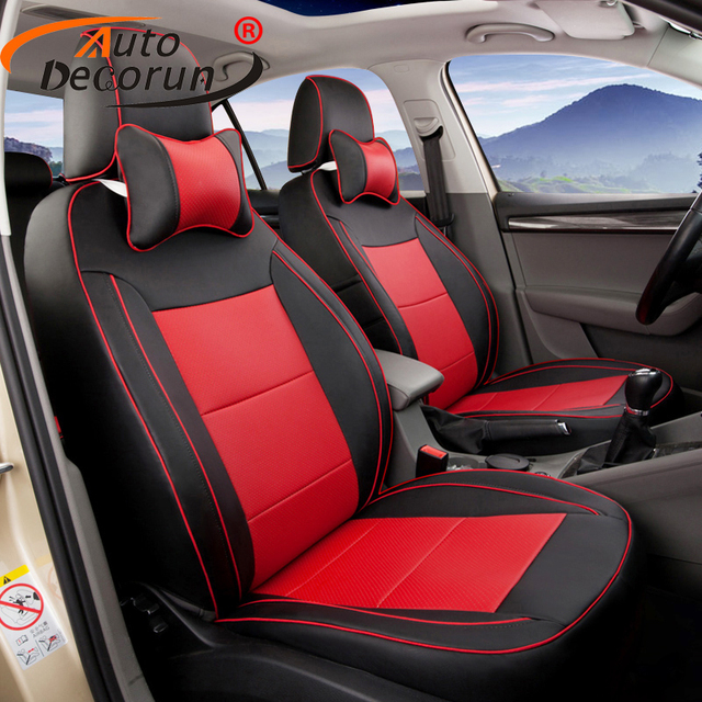 AutoDecorun custom fit cover seats set Leather for Hyundai SantaFe 2015 seat covers car accessories seat cushion Protector cover