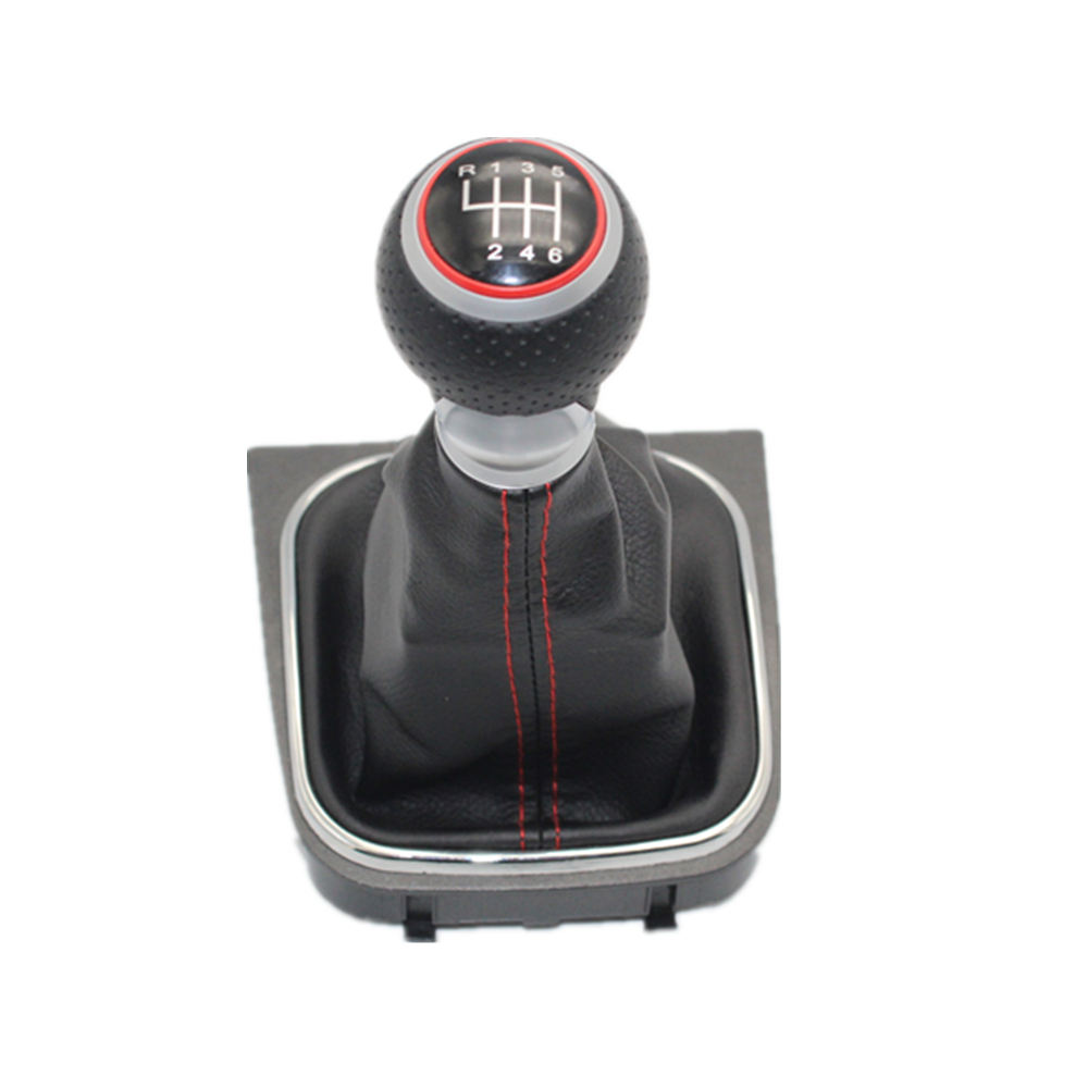 Image 2 - For VW Golf 5 MK5 R32 GTI GTD 2004 2005 2006 2007 2008 2009 New 5 /6 Speed Car Gear Stick Level Shift Knob With Leather Boot-in Gear Shift Knob from Automobiles & Motorcycles