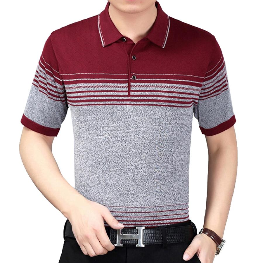 Men s Business Short Sleeve Polo Shirt Men 100% Cotton Soft Spring Summer Polo  Shirt Men-in Polo from Men s Clothing   Accessories on Aliexpress.com ... 435b968c171da