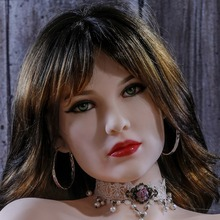 #100 Europe face adult love dolls head for lifelike sex doll, real dolls head with oral sex products-tan