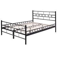 Giantex Black Twin Size Wood Slat Steel Bed Frame Platform With Headboard Footboard Modern Bedroom Furniture