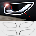 2016 ABS 4pcs/set Car Styling Car Inner door Handle Box Sequins For Mazda 6 Atenza Car Accessories Decoration Sequins
