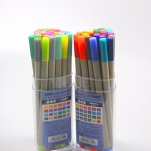 """Finecolour סקיצה EF300 אניה צבעוני 0.3 מ""""מ 48 צבעים באיכות טובה מחט שצויר ביד אמנות סמני עט עם פלסטיק מקרה"""