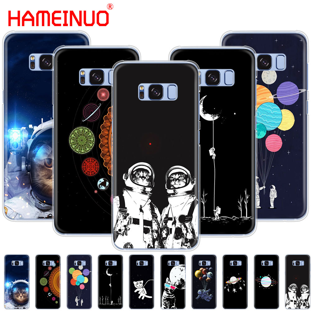 Half-wrapped Case Hearty Hameinuo Space Love Moon Astronaut Cat Cell Phone Case Cover For Samsung Galaxy E5 E7 Note 3,4,5 8 On5 On7 Grand G530 2016 Discounts Sale