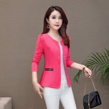 Brieuces Ladies Blazer Feminino 2019 Plus Size Blaser Women Suit Blazers And Jackets White/Pink/BlackYellow jaqueta feminina