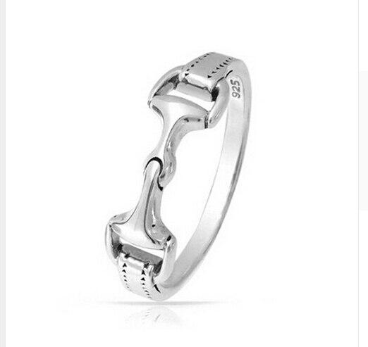 Prix pour 100% 925 En Argent Sterling femmes hommes cheval peu mors anneau