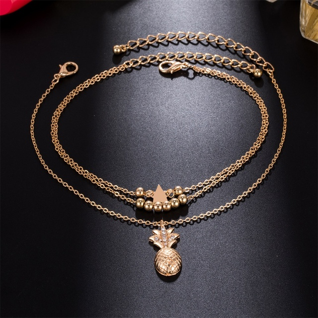 Bohemian Pineapple Pendant Fashion Style Anklets for Women
