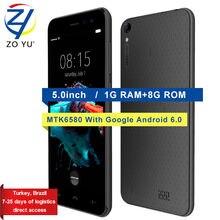 Doogee HOMTOM HT 16 смартфон 3 г Android 6.0 Мобильный телефон 1.3 ГГц 1 ГБ + 8 ГБ MTK6580 4 ядра 5.0 HD 8.0MP Камера 3000 мАч сотовый телефон