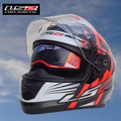 Free shipping 2015 New original LS2 ff320 motorcycle helmet with inner sun visor full face helmet