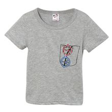 New Summer ClothingChildren Cotton Short Sleeve Chic Glasses Print Pattern Tops T-Shirt