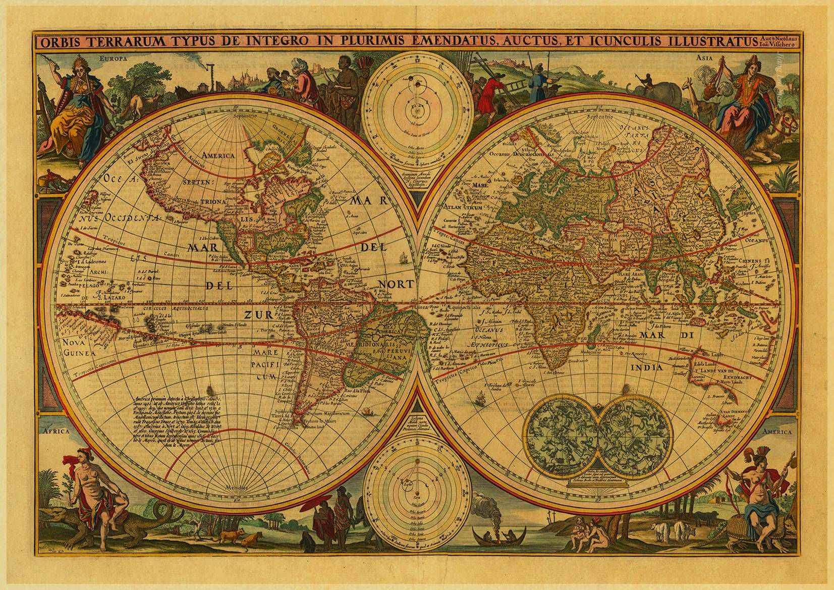 Vintage Maps Of The World on