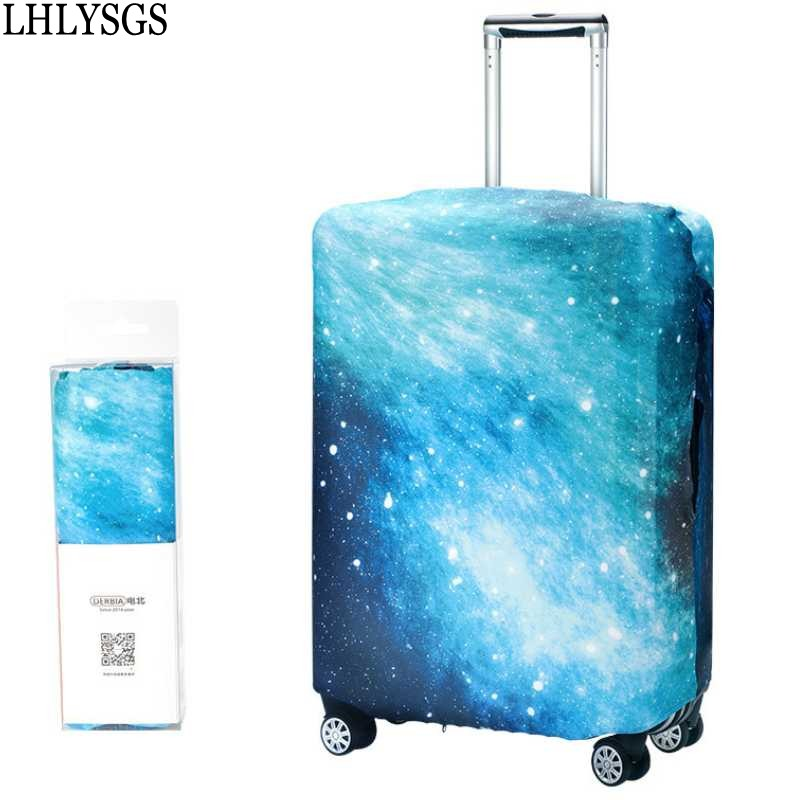 LHLYSGS Brand New Women's Fashion Travel Trolley Case Dust Cover Elastic Suitcase Protective Cover Luggage Accessories Product travel aluminum blue dji mavic pro storage bag case box suitcase for drone battery remote controller accessories