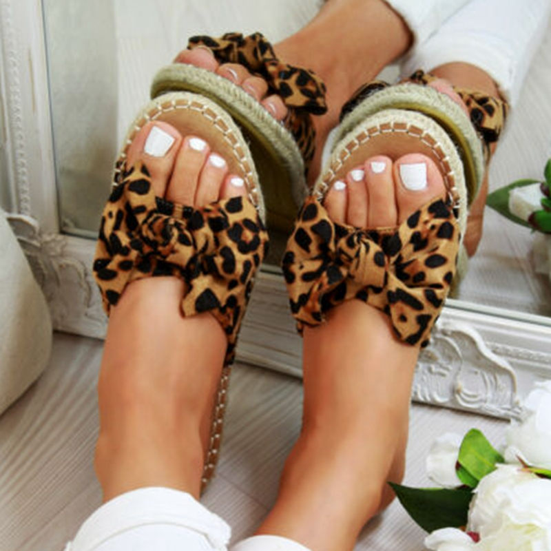 Leopard Sandals Torridity Sexy 2019 New Fahion Women Slippers Open Toe  Casual Shoes Ladies Outdoor Beach  Flops Female