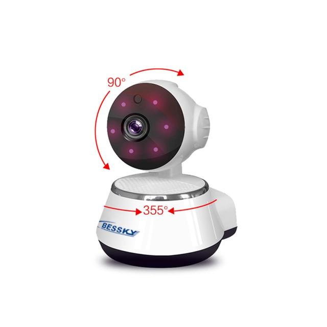 Bessky 720P HD Wireless Wifi IP Camera Home Security Surveillance Camera Onvif P2P IR-Cut P/T Night Vision CCTV Indoor Camera