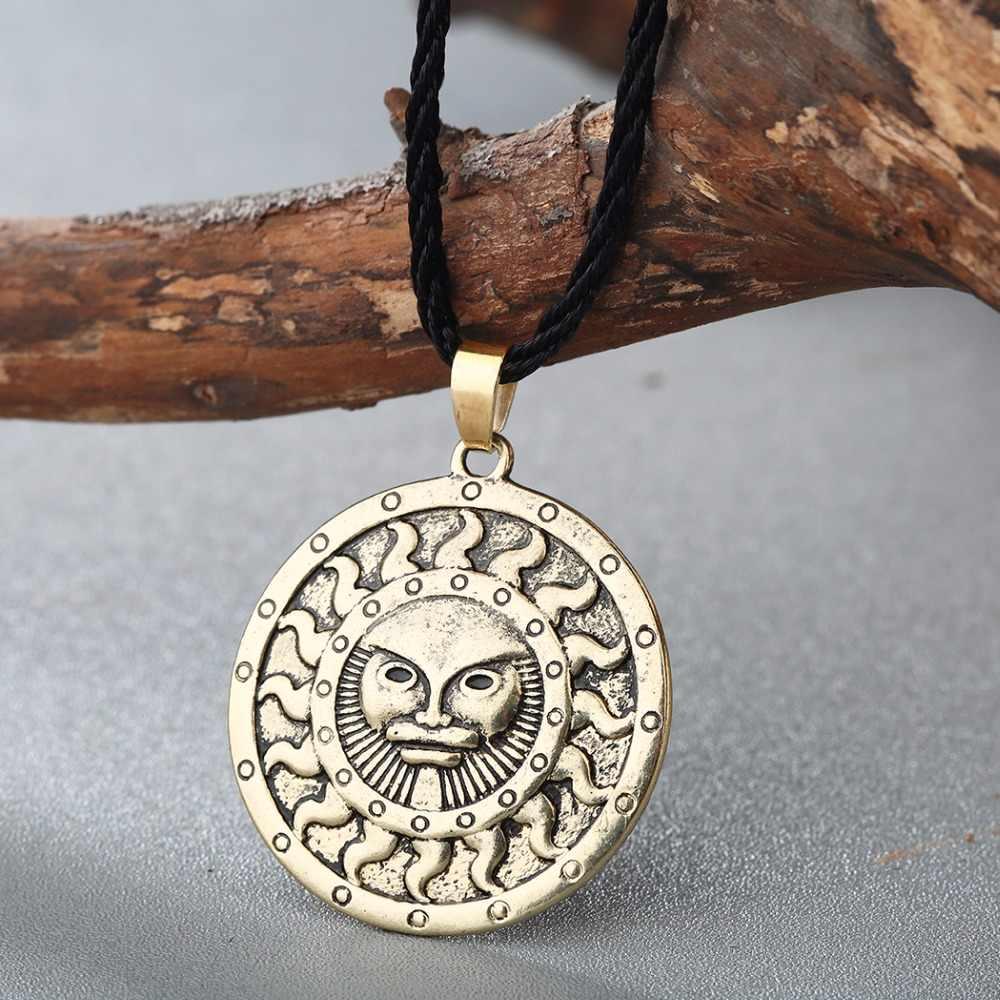 QIMING สัญลักษณ์พระเจ้า Yarila ฤดูใบไม้ผลิ Slavic สร้อยคอสร้อยคอสร้อยคอสร้อยคอสร้อยคอสร้อยคอสร้อยคอสร้อยคอสร้อยคอสร้อยข้อมือ Amulet จี้เงินโบราณ Pagan เครื่องประดับสร้อยคอผู้หญิง