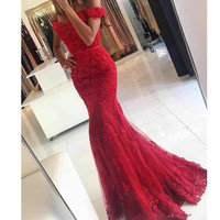Chinese Red Mermaid Wedding Dress 2017 Sash Lace New Open Back Bridal Gowns Formal Custom Made