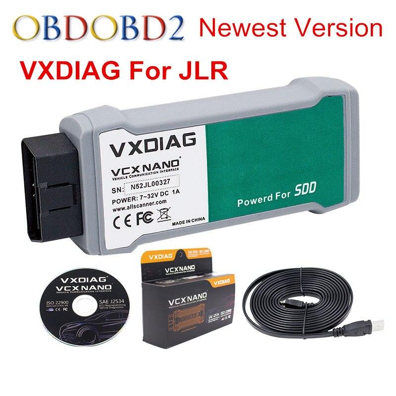Лучшее качество vxdiag VCX NANO для JLR 2 в 1 программного обеспечения SSD V145 для Land Rover/Jaguar для дизельных и бензиновых автомобили Бесплатная доставка