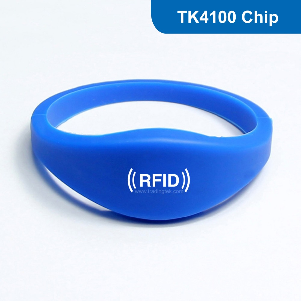 WB03 Silicone RFID Wristband RF Bracelet ID Smart Tag Proximity Smart EM Card ID Card 125KHZ 64BITS R/O with TK4100 Chip non standard die cut plastic combo cards die cut greeting card one big card with 3 mini key tag card