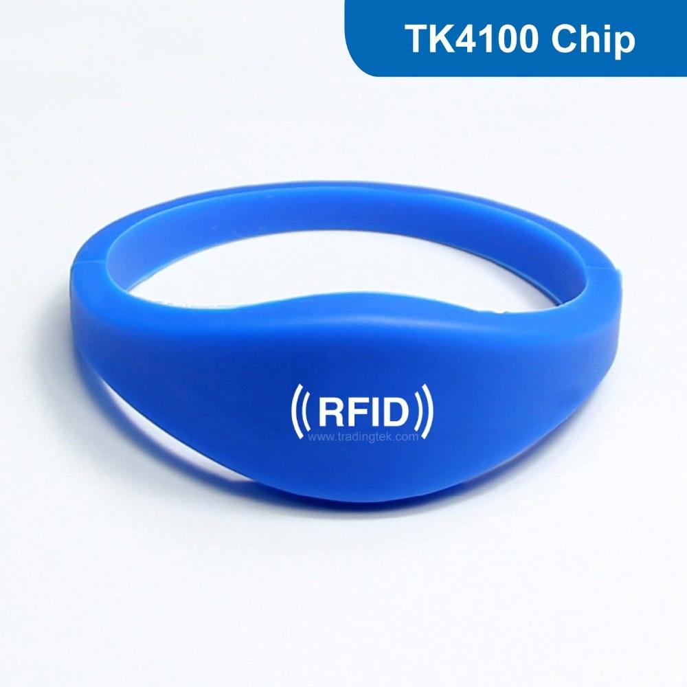 WB03 Silicone RFID Wristband RF Bracelet ID Smart Tag Proximity Smart EM Card ID Card 125KHZ 64BITS R/O with TK4100 Chip