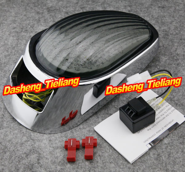 Motorcycle Integrated LED Tail Light / Taillight Turn Signals For Kawasaki Vulcan VN2000 2005 2006 2007, China Parts & Accessory aftermarket free shipping motorcycle parts led tail brake light turn signals for honda 2000 2001 2002 2006 rc51 rvt1000r smoke