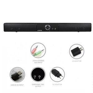 Image 5 - LONPOO новейший Bluetooth динамик Портативный Саундбар звуковая панель HIFI Саундбар динамик для компьютера ПК телефон